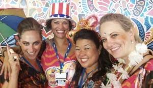 This year's carnival 2013 with my American friends Usha, Laura and Heidi!