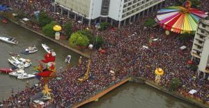 The Galo da Madrugada in Recife is the biggest street festival in the world.