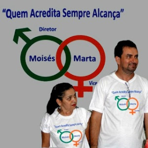 University director candidate Moisés and his running mate, Marta Guimarães (photo: www.blogfolha.com)